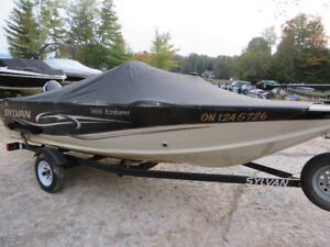 2008 Sylvan 16 foot side console fishing boat with 60 etec