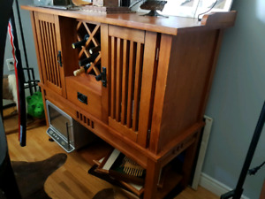Mission Style Wine Cabinet and Buffet