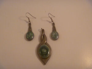 Aitken's Pewter Charm And Earring Set
