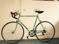 Vintage Bianchi celeste racing bike bicycle not fixie single speed