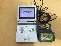100% Great Used Condition Gameboy Advanced SP with 2 games