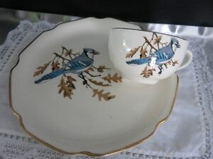 Blue Jay luncheon Plate 1950's