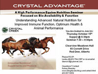 Crystal Advantage Equine Nutrition Seminar Red Deer