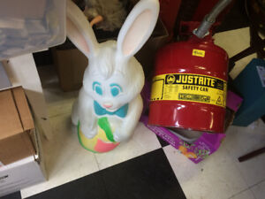 Outdoor Plastic Christmas Bunny