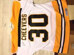 Signed Cheevers Bruins jersey.