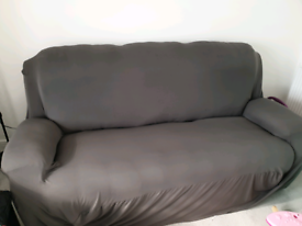 3 seater recliner bonded leather sofa