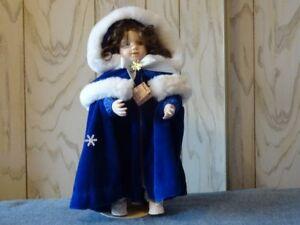 "Ashton Drake Poupée Porcelain  Catherine  Christmas Joy Noel 16"""