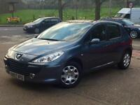 2007 Peugeot 307 1.4 16v ( 90bhp ) X-Line 5 Door Grey only 63,773 Miles SUPERB!!