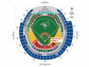 BLUE JAYS TICKETS - APRIL & MAY GAMES!! GREAT SEATS!! (SEC 118)