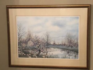 Glimpse of Spring by Peter Robson lithographic print 240/300