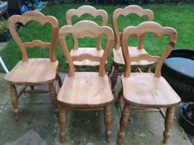 Farm House Heavy duty Pinewood kitchen Chair