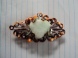 Copper and Agate Brooch