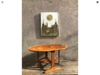 Vintage Retro Parker Knoll Teak Drop-leaf Occasional Coffee Table