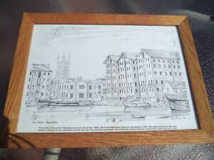 """Drawing of """"The Docks"""", Gloucester"""""""
