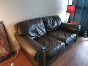 Bauhaus Leather Couch Dark Brown Free Need Gone Asap