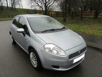 2008 '08' FIAT GRAND PUNTO 1.4 DYNAMIC 5 DOOR HATCH IN MET SILVER ONLY 59,000 M