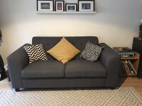 Dark grey sofa for sale - Only 1 year old!