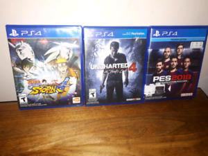 Pro Evolution Soccer 2018, Naruto 4, Uncharted 4