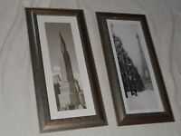 2 black & white Paris and New York picture