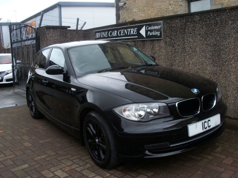 08 08 BMW 116i SPORT SE 5DR 1 LADY OWNER FROM NEW BLACK ALLOYS CLIMATE