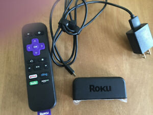 Roku TV streaming stick with remote for sale