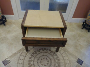 Table with Drawer and Marble Top Hotel Quality ***PRICE DROP***