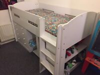 Single kids cabin bed excellent condition