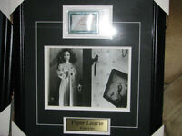 Carrie autographed photo framed and matted