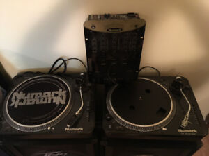 Numark Turntables and Mixer