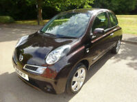 2010 10 Nissan Micra1.2 N-TEC Hatchback Petrol Manual In Black Metallic
