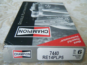 CHAMPION DOUBLE PLATINUM POWER Platinum Spark Plugs 7440 Set of