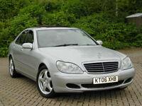 2006 06 Mercedes-Benz S Class 3.2 S320 CDI SE 4dr WITH FSH+SATNAV+SUNROOF++
