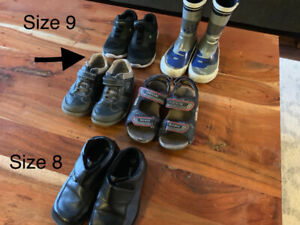 Boys Shoes Boots and Sandals Size 8 and 9