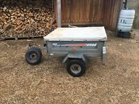 Trailer - Erde 122 with cover and spare wheels