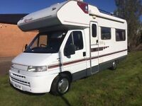 Fiat Ducato motorhome 2.5 diesel REDUCED TO £11995 N REG 5 BERTH TOILET low miles awning