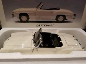 1:18 Diecast Autoart Mercedes-Benz 190 SL Convertible