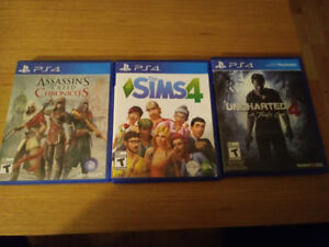 Jeux Ps4 (The Sims 4 et Uncharted 4)