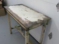 Table de travail en bois vintage antique