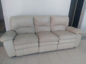Leather Recliner/Rocker Sofa For Sale