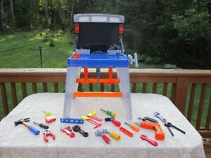 Toy Workcentre With Lots Of Tools