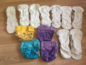 4 X GroVia Cloth Diaper Covers, 8 X Inserts & 4 X Boosters