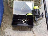 Fire stick Sea Fishing Rod , reel tackle box and bag.