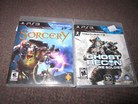 PS3 Games - Sorcery, Ghost Recon - Future Soldier - New
