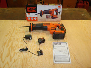 Black and Decker 20 volt Li ion Reciprocating Saw