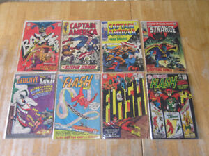 Marvel and DC Comic books from the 60s