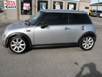 "ONE OWNER. COOPER ""S""  GLASS ROOF MINT  62 KMS 6 SPEED  UPGRADES"