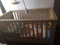 Mamas and papas large cot bed