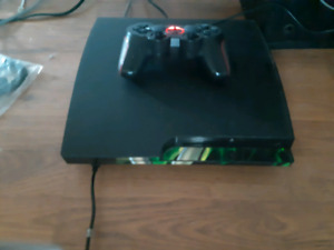 Ps3, all cord and remote. Black ops 2 and oblivion.
