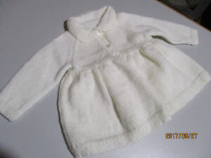 Hand maid baby sweater and a hat & blanket