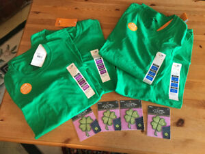 Green St. Patrick's Day T-shirts and iron on's, 4 of  each